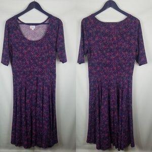 LuLaRoe purple Amelia dress size large